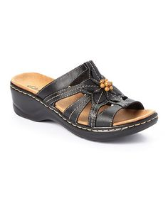 Look what I found on #zulily! Black Lexi Myrtle Leather Slide #zulilyfinds