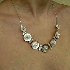 Perleťový náhrdelník růžová nostalgie