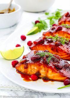 Cranberry Honey Glazed Salmon-15