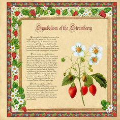 "Beltaine: ""Symbolism of the Strawberry"" (#Beltane, page 5 of 6), by Brightstone."