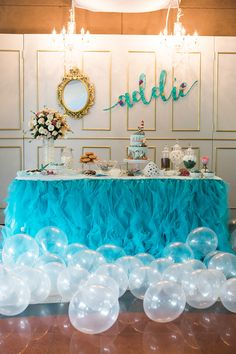 Addie's Adorable Song of the Sea Inspired Party - dradurn. Ocean Party Decorations, Birthday Party Centerpieces, Party Themes, Candy Centerpieces, Quince Decorations, Quinceanera Centerpieces, Quinceanera Themes, Themed Parties, Wedding Centerpieces