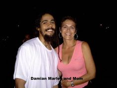 Damian Marley with his mother #MothersDay