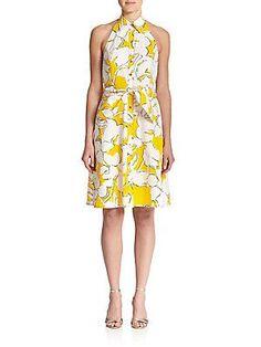 Diane von Furstenberg Tenner Cotton Halter Dress