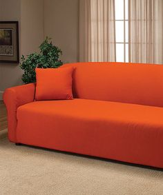 This Orange Furniture Protector by Elegance Linen is perfect! #zulilyfinds