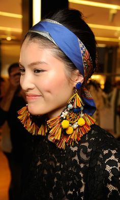 Statement earrings with pom poms   tassles | Dolce