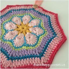 African Flower Pan Holder #sewhappycreative #sewhappycreativ #crochet #drops #cotton #crochelove #crochetflower #etsy #etsyuk #etsyfinds #etsysellersofinstagram #instacrochet #crochetersofinstagram #handmade #crochethook #kitchen #home #makersofinstagram #craftsposure #colour #colourful #yarn #yarnlove #yarnstash #pretty by sewhappycreativ