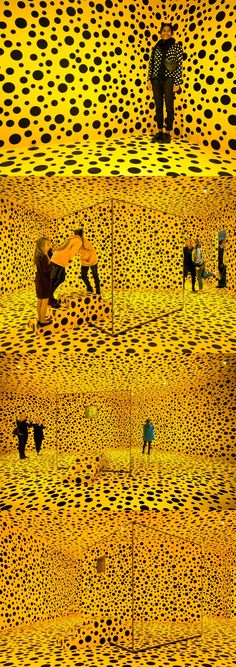 I really admire this artist. Done by a famous artist named Yayoi Kusama Mais Yayoi Kusama, Land Art, Contemporary Artists, Modern Art, Bühnen Design, Art Actuel, Pop Art, Feminist Art, Arte Popular