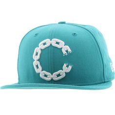 Crooks and Castles C Link Logo New Era Fitted Cap (teal) CC940863TEA - $39.99