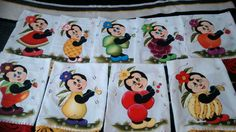 Panos de prato pintados