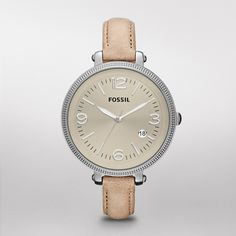 Fossil Heather Leather Watch - Sand