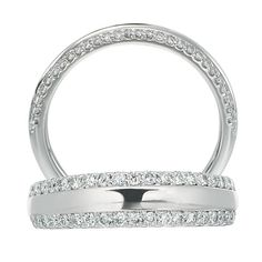 Classic Collection two row micropavé diamond eternity band