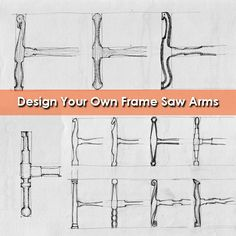 Check out how Yoav Liberman designs frame saws with a pencil and paper! Woodworking Tools For Beginners, Woodworking Saws, Cool Woodworking Projects, Woodworking Magazine, Popular Woodworking, Custom Woodworking, Welding Projects, Wood Pencil Holder, Build A Frame