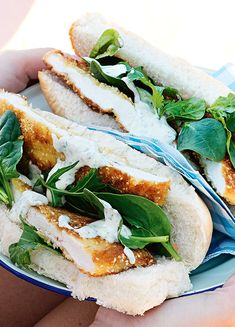 How to make Chicken Schnitzel Rolls With Tahini Parsley Sauce