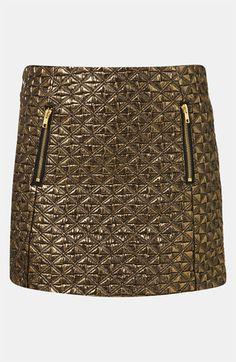 Topshop Metallic Jacquard Miniskirt $40
