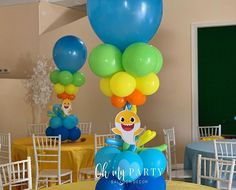 No photo description available. Baby Boy 1st Birthday, Boy Birthday Parties, Birthday Balloons, Birthday Ideas, Baby Hai, Shark Party Decorations, Birthday Decorations, Instagram Party, Happy Party