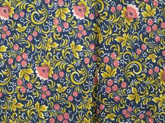 Vintage Russian Fabric. Cotton