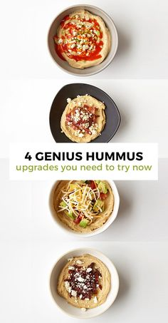 Elevate your snack game from yum to out-of-this-world starting with a quality hummus and topping with these killer add-ins!