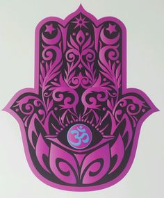 PINK HAMSA HAND with LOTUS and OM symbol yoga Vinyl Decal Sticker indoor/outdoor #BetterThanNormal