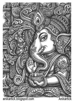 learning drawing with pencil , # Doodle Art Drawing, Basic Drawing, Dark Art Drawings, Mandala Drawing, Pencil Art Drawings, Art Drawings Sketches, Zentangle Drawings, Zentangles, Ganesha Drawing