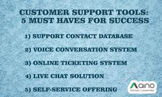 Customer Support Tools for Success