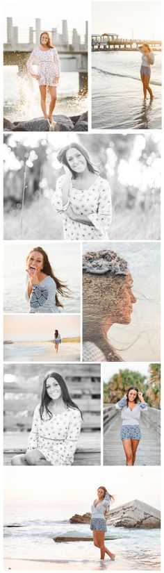 Ft DeSoto, Florida, Beach Tampa Senior Photographer, Graduation Poses, Double exposure,