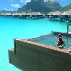 Travel Discover Four seasons Bora Bora Scarcely a spot on the universe affords a more luxurious prospect. Book this Private Island paradise in the Heart of French Polynesia at slay lifestyle Dream Vacation Spots, Vacation Places, Vacation Destinations, Dream Vacations, Honeymoon Places, Bora Bora Honeymoon, Four Seasons Bora Bora, Overwater Bungalows, Beautiful Places To Travel