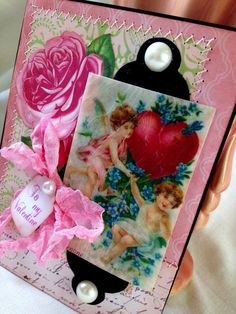 Valentine Card Vintage Handmade Card by IndigoWings on Etsy