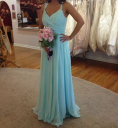 A-Line Evening Dresses Sweetheart Sleeveless Chiffon Prom Dress,Long