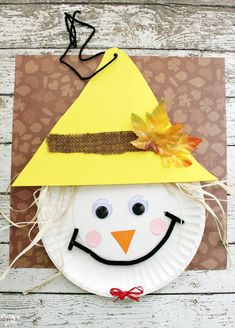 Marvelous Scarecrow Paper Plate Craft For Thanksgiving