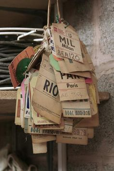 Old luggage tags by SATBack, via Flickr