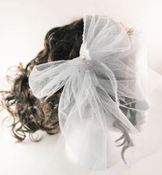 White birdcage veil in tulle netting with by AnitaHiltonweddings, £20.00