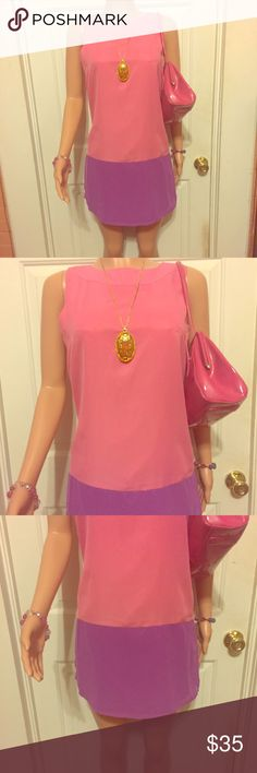 💖HOST PICK💖 Unique Mod Style Pink/Purple Dress 💖HOST PICK💖 Unique Mod Style Pink and Purple Dress w/ Gold external Zipper on the back. Made by RARE. Tag says 8, & it may fit an 8 depending on measurements but looks closer to 4-6 to me. Comment if you need measurements. In excellent condition other than a tiny bit of barely noticeable discoloration on the front collar. I added a pic of it but as you can see it's hard to see! This dress has tons of life left! Final Price but Bundle and…