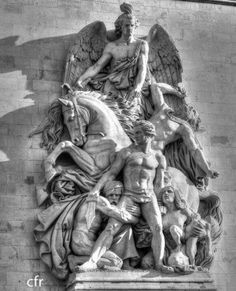 Arc de Triomphe. Sculpture detail on one of its side