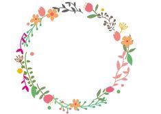 花と葉っぱのサークル