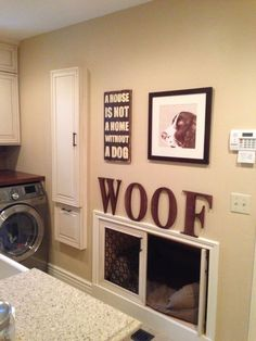 Want to know how to design a space for your dog? Here's a recessed sleeping area that's great.