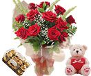 Red roses teddy and ferrero rocher box to Hyderabad delivery. We deliver online gifts to Hyderabad on your special occasions.  Visit our site : www.flowersgiftshyderabad.com/Rakhi-Gifts-to-Hyderabad.php