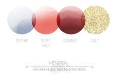 *brushstrokes* | color palette | fresh hues.    Love the gold!