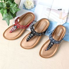 Socofy Gros Orteil Pince Strass Taille Flip Flops De Bohême UTooIa4hQ
