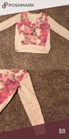 Aeropostale Rose sweatshirt Size L has two small dots on one sleeve Aeropostale Tops Sweatshirts & Hoodies
