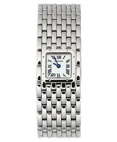 Vintage Cartier Steel Ribbon Ladies Watch