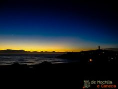Vista do sol nascendo - Farol de Santa Marta