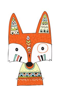 FOX Illustration Print Fox Kunstdruck FOX paar Liebe Illustration Orange Fox Kunstdruck Fox Kindergarten Kunst Woodland Home Decor Fox Wandkunst MiKa Nursery Prints, Nursery Wall Art, Wall Art Prints, Poster Prints, Kids Prints, Tribal Fox, Tribal Animals, Art Wall Kids, Art For Kids