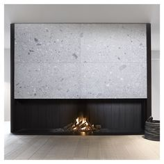 De Puydt - Stone Fireplace