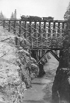 Early timber bridges had their drawbacks. Untreated lumber only lasted about 20 years and locomotives could easily cause the wood to catch fire.