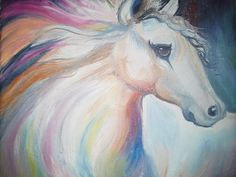 Horse Angel - Oil Painting