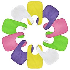 Waterproof Baby Bibs with Snaps for Girls, Gift Box 10 Pack, Solid Colors Maxy Moo Moo http://www.amazon.com/dp/B00SA5XLHG/ref=cm_sw_r_pi_dp_0stCvb07YFEQY