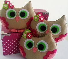 ♥♥♥ Começando a semana na corujice... by sweetfelt  ideias em feltro, via Flickr