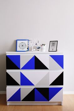 Ikea hack - Mon relooking d'une commode Malm :) // Malm dresser customisation