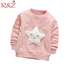 R&Z Baby Girls T-shirt 2017 Spring Baby Girls Girl Cartoon Long Sleeves Round Neck Cotton Shirt Kids Clothing Top