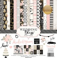 Echo Park - Wedding Bliss Collection - 12 x 12 Collection Kit